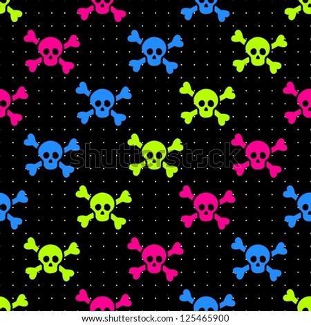 skulls background - stock vector