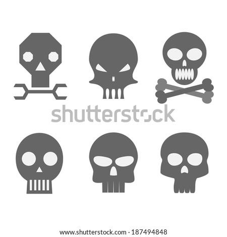 Skulls Vector Illustrations - stock vector