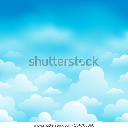 Sky and clouds theme image 1 - eps10 vector illustration. - stock vector