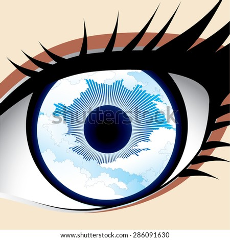 Sky eye vector - stock vector
