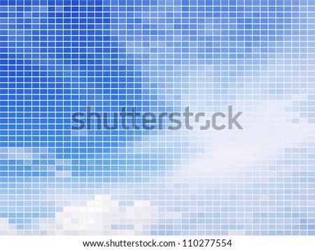 sky mosaic background - stock vector