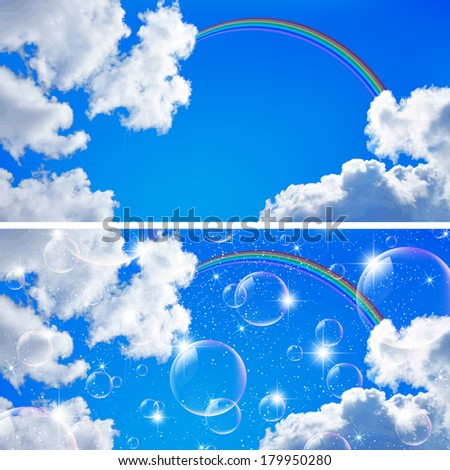 Sky rainbow background