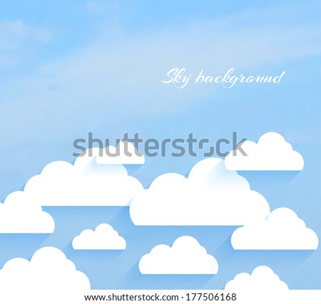 Sky with clouds - stock vector