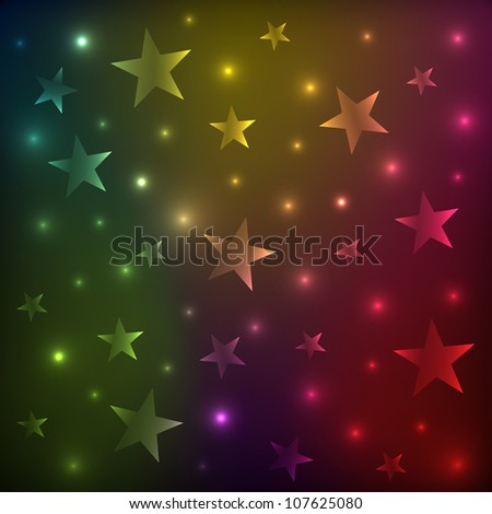 sky with stars - stock vector