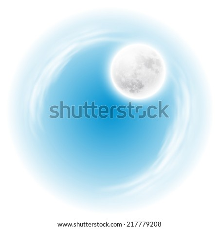 Sky with the moon. Spherical composition. EPS10 vector. - stock vector