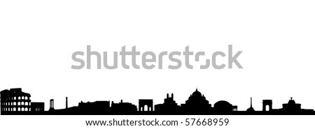 Skyline of Rome - stock vector