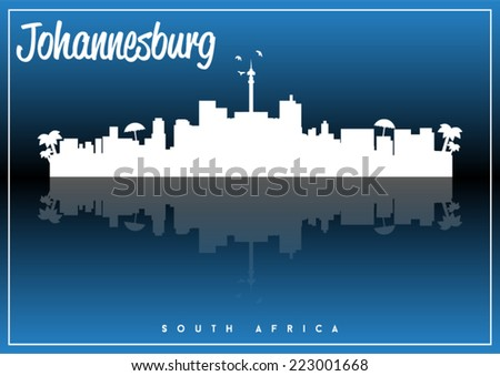 skyline silhouette vector design on parliament blue and black background.  - stock vector