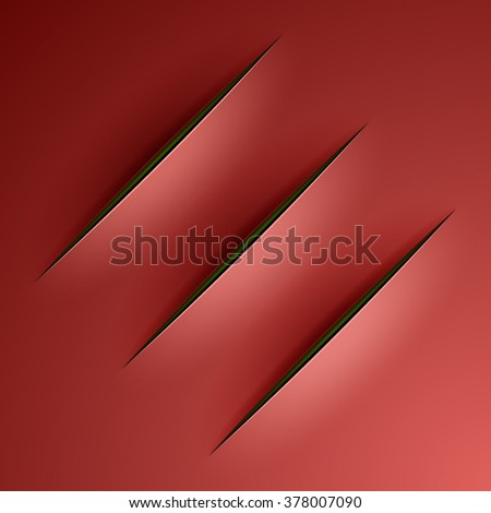Slashes backgroud in Lucio Fontana style - stock vector