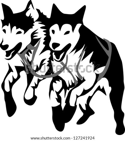 American husky Stock Photos, Illustrations, and Vector Art