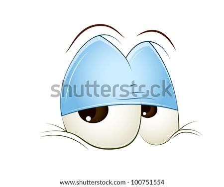 Sleepily Eye - stock vector