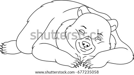 Cartoon bear sleeping clip Stock Images Royalty Free Images