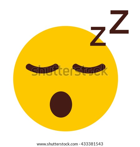 sleeping cartoon face vector icon stock vector 433381543 shutterstock rh shutterstock com tired looking face cartoon Cartoon Mad Face