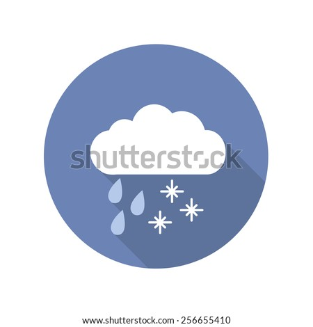 sleet flat icon. snow, rain. vector illustration - stock vector