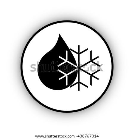 sleet icon  - stock vector
