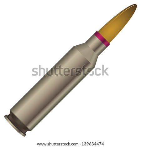 Sleeve with a bullet - reloading. Vector illustration. - stock vector