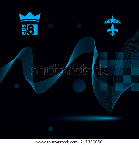 Slender 3d textile motif background, curved stripy flowing lines, relax aerial composition, eps8 illustration. - stock vector