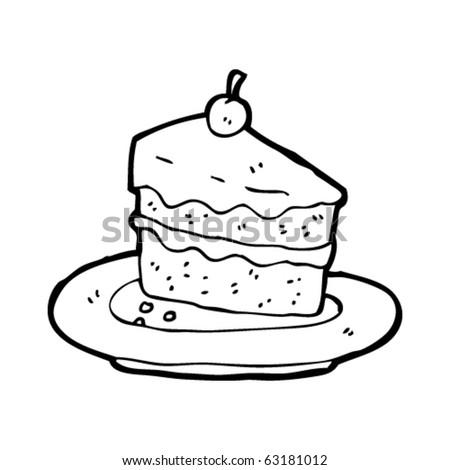 Dessert cartoon black and white
