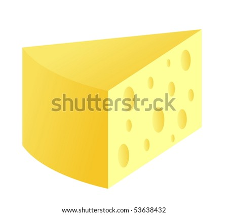 Slice Of Cheese - stock vector