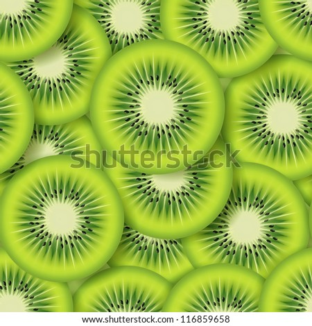 sliced kiwifruit . seamless background