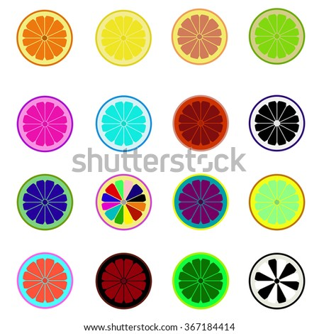 slices of various citrus fruits/slices fruit