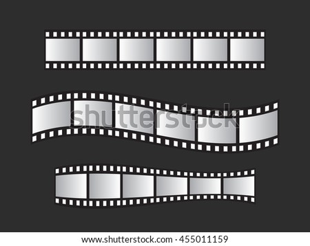 Slide Film Frame Set Film Roll Stock Vector HD (Royalty Free ...