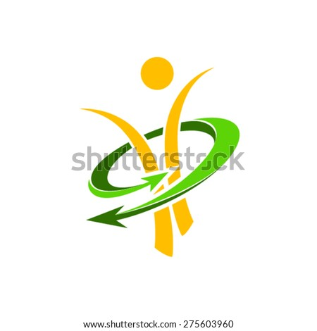 Slim figure and active lifestyle logo  - stock vector