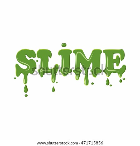 slime word isolated on white background stock vector 471715856 shutterstock. Black Bedroom Furniture Sets. Home Design Ideas