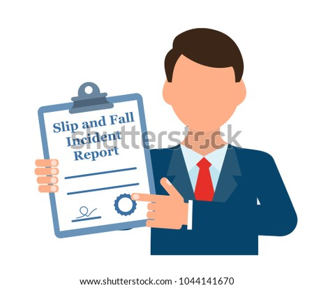 Slip Fall Incident Report Stock Vector Hd Royalty Free