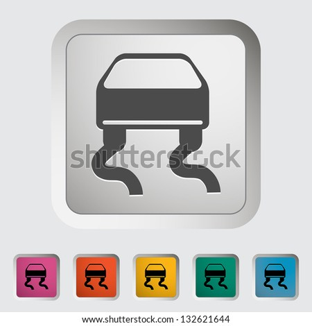 Slip-indicator. Single icon. Vector illustration. - stock vector