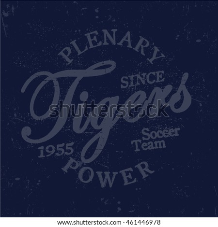 Slogan tiger print typography graphic. For t-shirt or other uses,in vector.