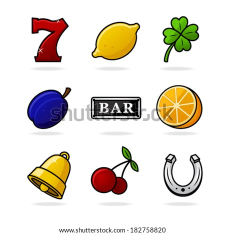 Slot Icons - stock vector