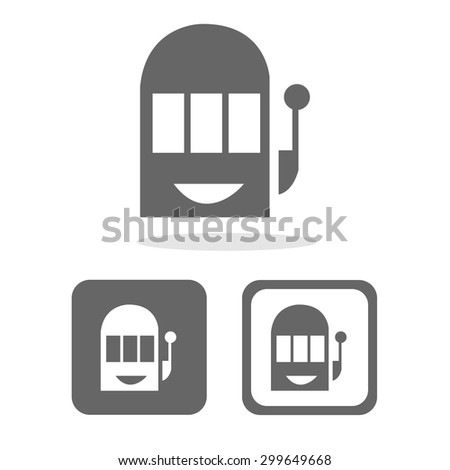 Slot icons set great for any use. Vector EPS10. - stock vector