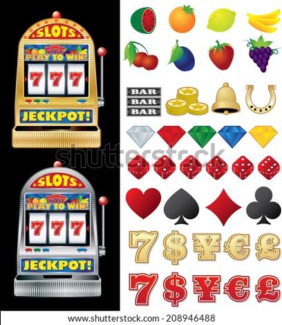 Slot Machine - stock vector