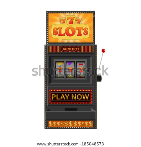 Slot machine, gamble machine isolated on a white background