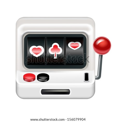 slot machine isolated on white background - stock vector