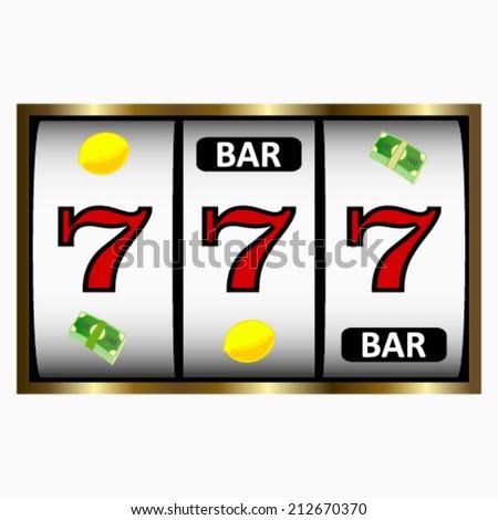 Slot Machine shinny. Vector illustration. - stock vector