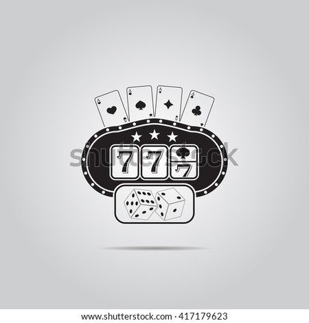 Slot machine vector icon