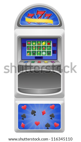 slot machine vector illustration isolated on white background - stock vector