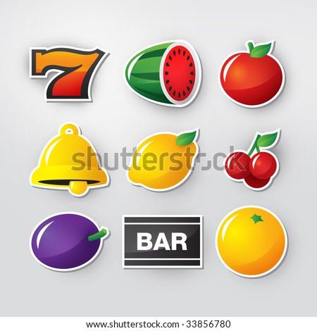 Slot symbols set 1. - stock vector