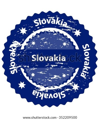 Slovakia Country Grunge Stamp - stock vector
