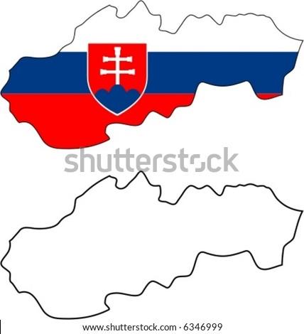 slovakia flag - stock vector