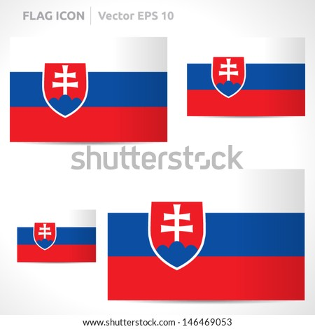 Slovakia flag template | vector symbol design | color red blue and white | icon set