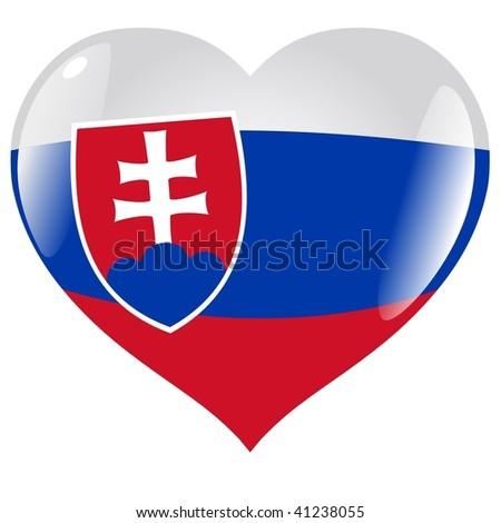 Slovakia in heart - stock vector