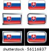 Slovakian Flag Buttons - stock photo
