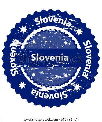 Slovenia Country Grunge Stamp - stock vector