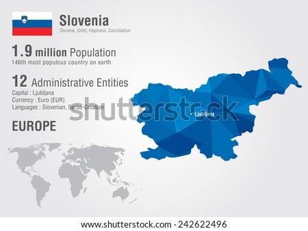 Slovenia world map pixel diamond texture stock vector hd royalty slovenia world map with a pixel diamond texture world geography gumiabroncs Choice Image