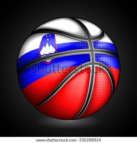 Slovenian basketball, vector - stock vector