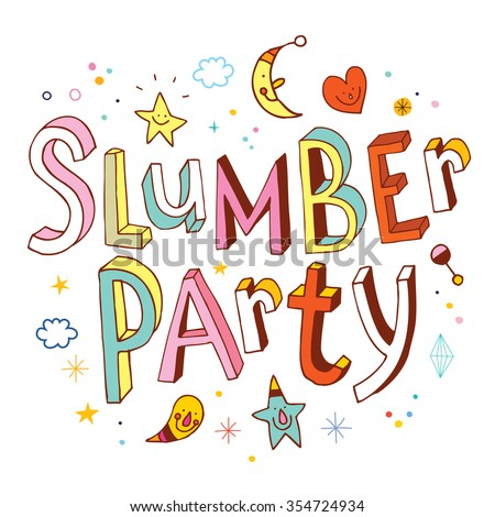 Slumber party - stock vector