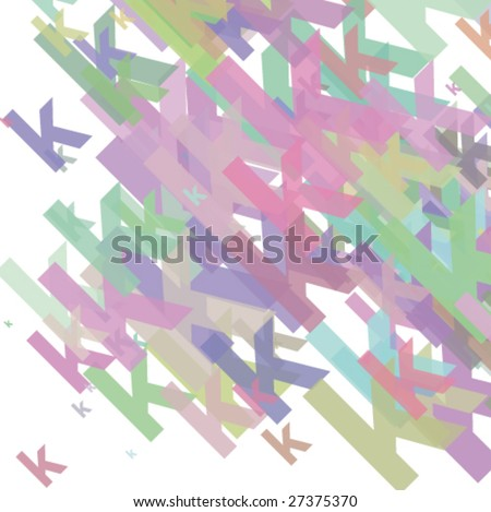 Small abstract letter k