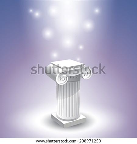 Small antic column - stock vector